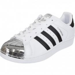 Adidas Originals Damen Sneaker Superstar Metal Toe weiß/schwarz