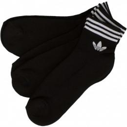 Adidas Originals Socken Trefoil Ankle Stripes schwarz