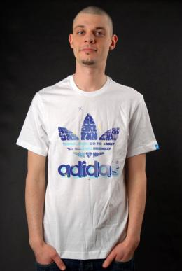 Adidas T-Shirt Logo Graphic Tee WE R FUN weiß L