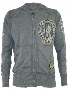Affliction Jacke Herren Speed Of Death Grau