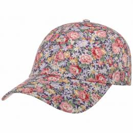 Allover Flowers Cap by Lipodo  , Gr. One Size, Fb. dunkelblau-altrosa
