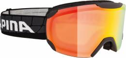 Alpina Pheos Multi Mirror Skibrille (Farbe: 831 schwarz, Scheibe: MULTIMIRROR orange)