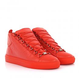 Balenciaga Sneakers High Arena Leder orange
