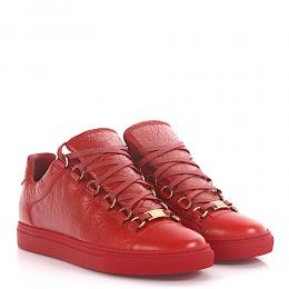 Balenciaga Sneakers Low Top Arena Leder rot crinkled