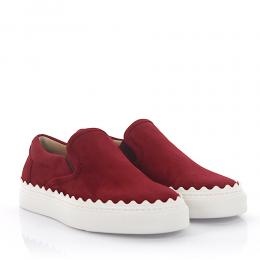 Chloé Sneakers Slip On CH26143 Veloursleder bordeaux