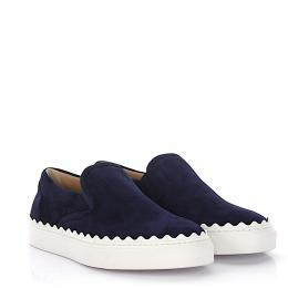Chloé Sneakers Slip On Ivy Veloursleder blau