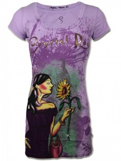 Crystal Rock Damen Strass T-Shirt Sweet Sunflower