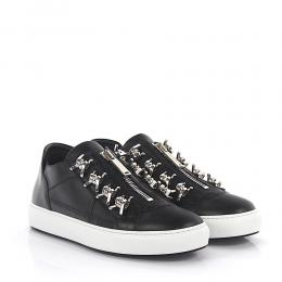 Dsquared Dsquared2 Sneakers Asylum Leder schwarz Metallapplikationen