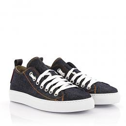 Dsquared Sneakers Basquettes Canvas Denim blau