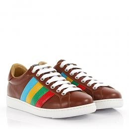 Dsquared Sneakers Santa Monica Leder braun Leder multicolor