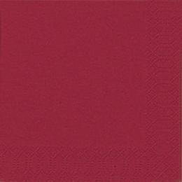 Duni Cocktail-Servietten 3lagig Tissue Uni bordeaux, 24 x 24 cm, 20 Stück