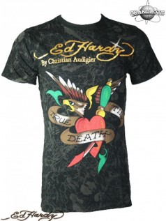Ed Hardy Herren Multiprint Special Shirt