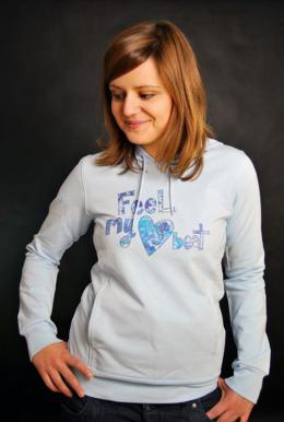 ELEMENT Heart Beat Kapuzenpullover Baby Blau Girls Hoody