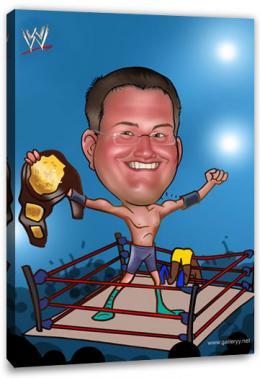 Erstellung Karikatur Boxchampion (ca128), inkl. 1 Person