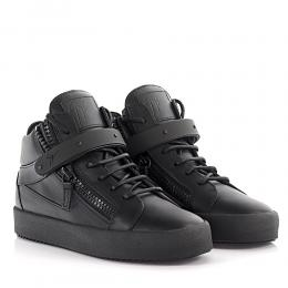 Giuseppe Zanotti Sneakers Mid Cut Dan May London Leder schwarz