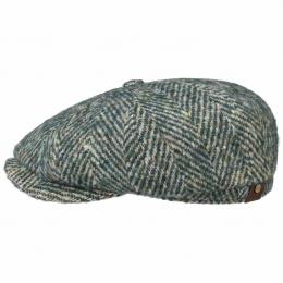 Hatteras Wool Colour Neps Flatcap by Stetson  , Gr. 55 cm, Fb. grün