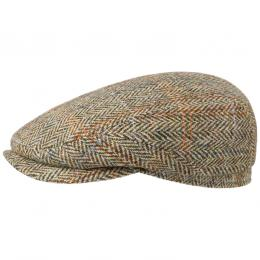 Hereford Harris Tweed Flatcap by Stetson  , Gr. 55 cm, Fb. beige