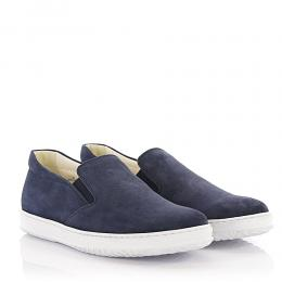 Hogan Sneakers Slip On H168 Veloursleder blau