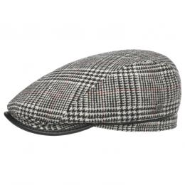 Houndstooth Piping Flatcap by bugatti  , Gr. 59 cm, Fb. schwarz-weiß