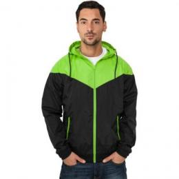 Jacke Urban Classics Arrow Windrunner Regular Fit black/limegreen
