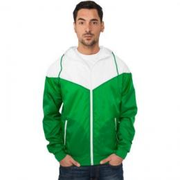 Jacke Urban Classics Arrow Windrunner Regular Fit green/white