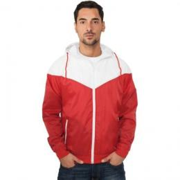 Jacke Urban Classics Arrow Windrunner Regular Fit red/white