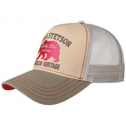 JBS-Bear Trucker Cap by Stetson  , Gr. One Size, Fb. beige