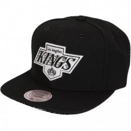 Mitchell & Ness Snapback Cap NHL Grid LA Kings schwarz