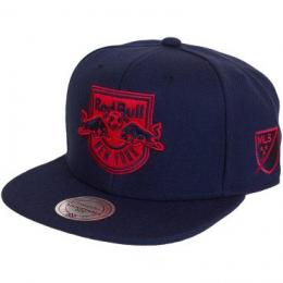 Mitchell & Ness Snapback Cap Solid Team Siren NY Red Bulls dunkelblau/rot