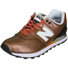 New Balance Damen Sneaker WL 574 B Leather/Synthetik kupferfarben