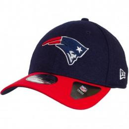 New Era 39Thirty Fitted Cap Team Melton New England Patriots dunkelblau/rot