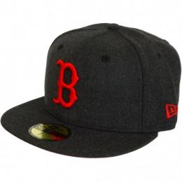 New Era 59Fifty Fitted Cap GER Heather Pop Boston Red Sox schwarz/rot