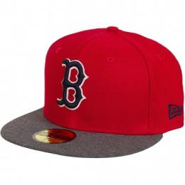 New Era 59Fifty Fitted Cap Jersey Diamond Boston Red Sox rot/grau