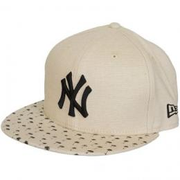 New Era 59Fifty Fitted Cap Micro Palm beige/schwarz