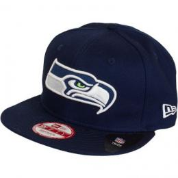New Era 9Fifty Snapback Cap Logo Prime Seattle Seahawks dunkelblau