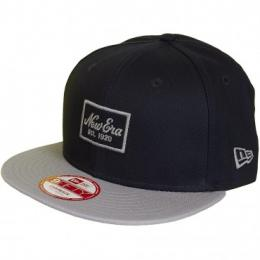 New Era 9Fifty Snapback Cap Patched Prime dunkelblau/grau