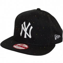New Era 9Fifty Snapback Cap Speckle NY Yankees schwarz/weiß