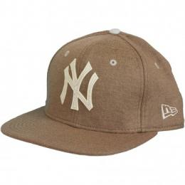 New Era Snapback Cap Felt Wool NY Yankees braun