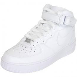 Nike Damen Sneaker Air Force 1 Mid 07 weiß/weiß