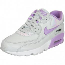 Nike Damen Sneaker Air Max 90 SE Leather platinum weiß/lila