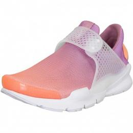 Nike Damen Sneaker Sock Dart Breathe sunset/weiß