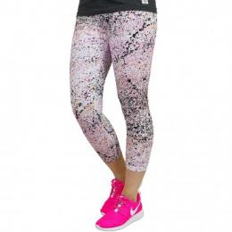 Nike Leggings Club Printed Cropped  lavaglow/schwarz