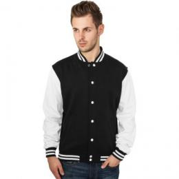 Sweatjacke Urban Classics 2-Tone College Regular F black/white