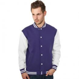 Sweatjacke Urban Classics 2-Tone College Regular F purple/white