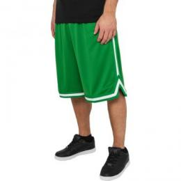Urban Classics Stripes Mesh Shorts green/green/white