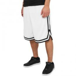 Urban Classics Stripes Mesh Shorts white/black/white