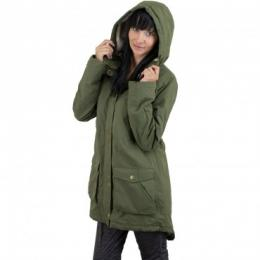 Volcom Damen Parka Walk On By oliv