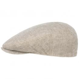 Woodfield Linen Flatcap by Stetson  , Gr. 63 cm, Fb. hellbeige