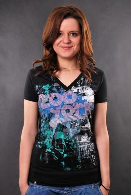 Zoo York Girls T-Shirt Lit Up Black